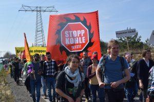 Kohle Protest Lausitz